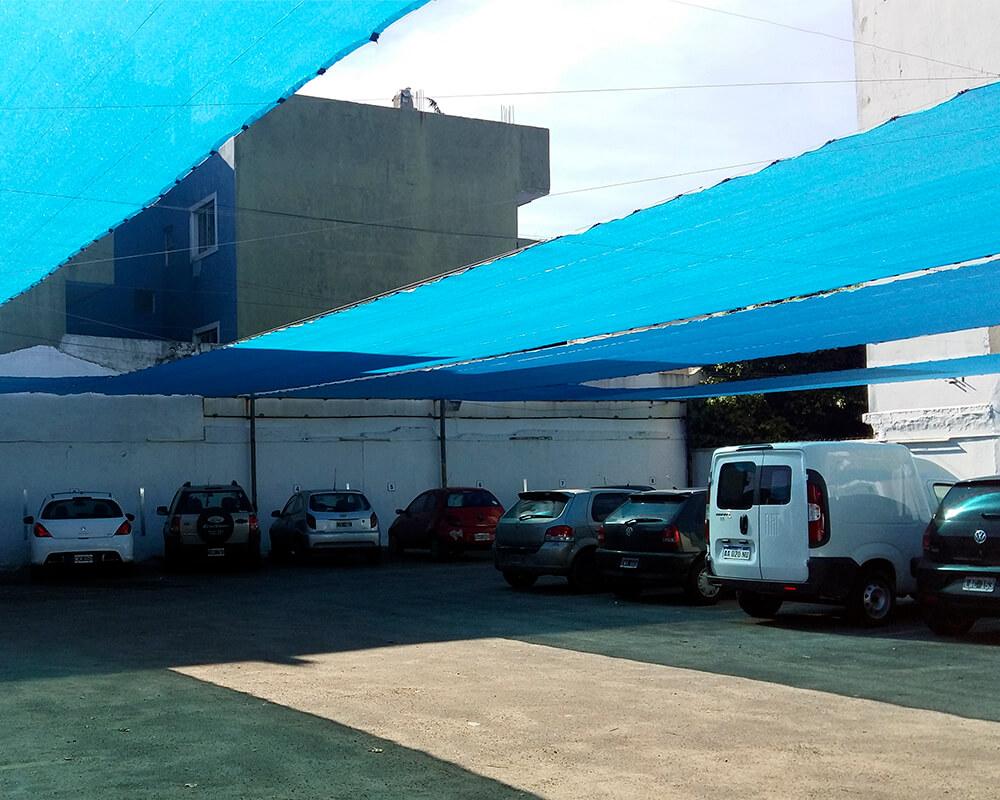 Sombreo 80% estacionamiento San Justo